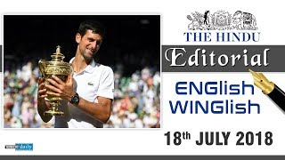 Download 18 July, 2018 | ENGlish - WINGlish - THE HINDU EDITORIAL | English & Tamil Video