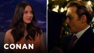 Download Olivia Munn: Johnny Depp Kept Grabbing My Boob - CONAN on TBS Video