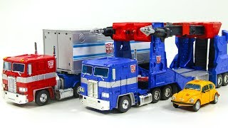Download Transformers MasterPiece MP-10 Optimus Prime MP-31 Delta Magnus MP-21 Bumblebee Vehicle Robot Toys Video