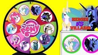 Download MY LITTLE PONY Heroes VS Villains Spinning Wheel Game Punch Box Toy Surprises Video