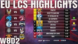 Download EU LCS Highlights ALL GAMES Week 8 Day 2 Full Day Highlights Summer 2018 W7D2 Video