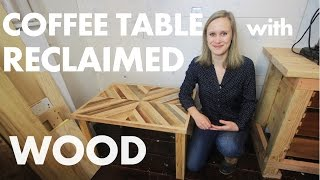 Download DIY Rustic Coffee Table w/ Reclaimed Wood Video