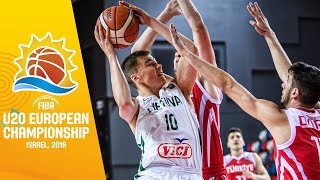 Download LIVE - Lithuania v Turkey - FIBA U20 European Championship 2019 Video