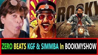 Download ZERO Beats KGF And SIMMBA In Popularity At Book My SHOW Video