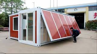 Download China Expandable container house -10 minutes one house! Video