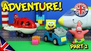 Download Spongebob Squarepants Toy Adventure - Plane & Bikini Bottom Bus Episode - Duplo Airport Story Video