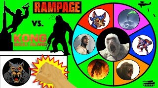 Download RAMPAGE vs KING KONG Slime Wheel Game | Which Ape Movie Surprise Toys Win? Kids Opening Video Video