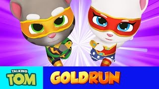 Download NEW in Talking Tom Gold Run - Superheroes Run Faster (Gameplay) Video