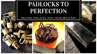 Download PADLOCKS TO PERFECTION -MELTING BRASS PADLOCKS , KEYS & SCRAP CASTING BIG GOLD BRASS BAR Video