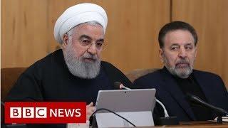 Download Iran president: US 'feet will be cut off from region' - BBC News Video
