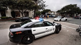 Download CARMEL POLICE OUT NUMBERED BY CRAZY SUPERCARS STUNTING!! Video