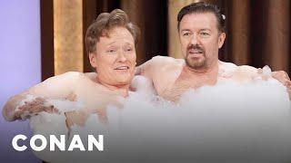 Download Ricky Gervais & Conan O'Brien Take A Bubble Bath Twitpic - CONAN on TBS Video