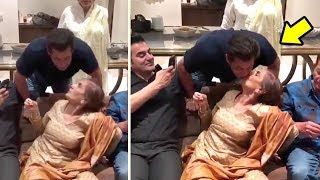 Download Salman Khan's CUTE Moment With Mother Salma Khan At Her 71st Birthday Celebration 2017 Video
