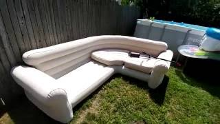 Download Intex blow up sectional Video