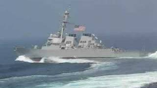 Download Navy ship taking ″evasive action″ Video