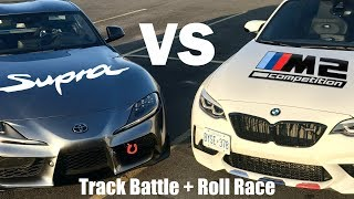 Download 2020 Toyota Supra VS BMW M2 Competition! Track Battle & Roll Race Video