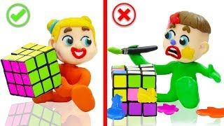 Download SUPERHERO BABY PLAYS COLORS RUBIKS CUBE 💖 Play Doh Cartoons Animation Video