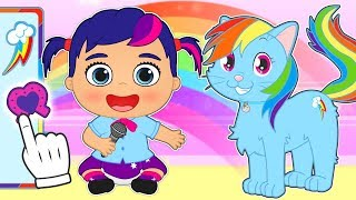 Download BABY PETS 🌈 Kira and Max Dress up as My Little Pony Characters | Educational Videos for Children Video