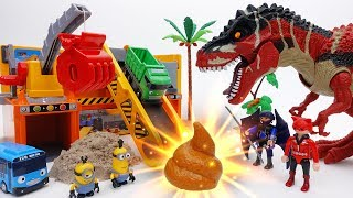 Download Stolen Gold in Dinosaur Poop? Gold Mine of Minions & Tayo Video