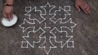 Download Easy and Simple Rangoli Design/ Simple Dot Rangoli Design with 10 dots Video