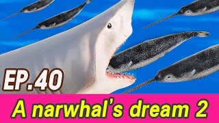 Download [EN] A narwhal's dream story 2 (Spotted Seal, blue whale, great white shark) collecta [cocostoy] Video