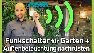 Download Funkschalter für Gartenbeleuchtung und Außenbeleuchtung nachrüsten - PEHA enocean EasyClick Video