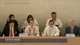 Download Cayetano defends PH human rights record before UN Video