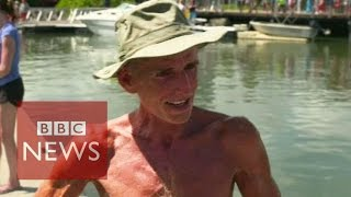 Download John Beeden sets non-stop solo Pacific row record - BBC News Video
