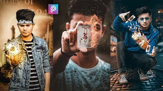 Download PicsArt Flying Fire Cards Photo Editing tutorial in picsart Step by Step in Hindi - Taukeer Editz Video