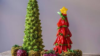 Download How to Make a Crudite Tree With Cheese Ball Presents Video