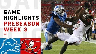 Download Lions vs. Buccaneers Highlights | NFL 2018 Preseason Week 3 Video