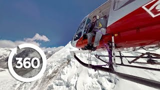 Download Fly a Helicopter on Mt. Everest In Incredible Virtual Reality! 🚁🏔️ (360 Video) Video