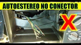 Download Como conectar un autoestereo sin conector de lado del auto y sin diagrama (de fabrica) Video