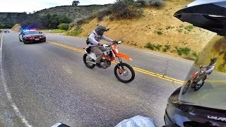 Download DIRT BIKE POLICE CHASE IN THE CAYNONS! Video