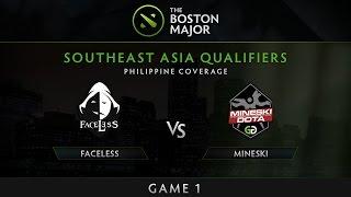 Download Faceless vs Mineski.ggnetwork - Game 1 - The Boston Major SEA Qualifiers - Philippine Coverage Video