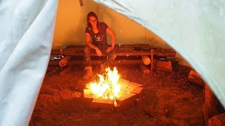 Download Smoke free tepee?! How to dig an air tunnel underneath! Video
