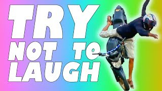 Download TRY NOT TO LAUGH OR GRIN - MOTORCYCLE EDITION 2017 Video