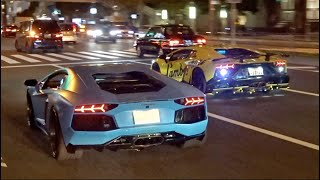 Download 諸星一家 空吹かし他 ハロウィン爆音パレード/Lamborghini crazy Halloween parade in Japan. Aventador, Aventador, Aventador! Video