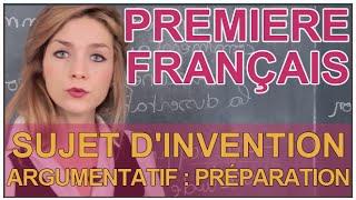 Download Sujet d'invention argumentatif - Préparation - Français 1ère - Les Bons Profs Video