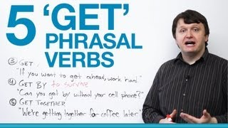 Download 5 Phrasal Verbs with GET - get up, get along, get ahead, get by... Video