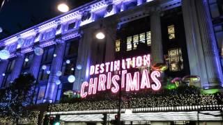 Download London's Oxford Street Christmas Lights + Windows + decorations Video
