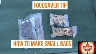 Download FoodSaver Tips: Making Small Bags Video