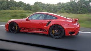 Download 780HP Porsche 991 Turbo S PP Performance - 340 KM/H TOPSPEED AUTOBAHN RUN!! Video