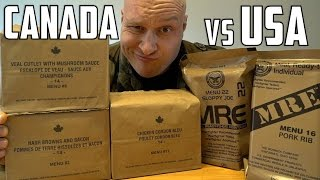 Download US vs Canadian Military MRE (Meal Ready To Eat) Taste Test Challenge! Video