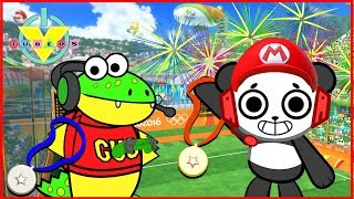 Download Mario Sonic Olympics Let's Play Combo Panda Vs. Gus Video