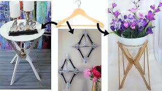 Download HOW TO USE HANGERS FOR 3 DECORATIVE & USEFUL HOME ESSENTIALS| DIY TABLE |DIY SHELF |DIY PLANT STAND Video