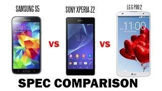 Download Samsung Galaxy S5 vs. Sony Xperia Z2 vs. LG G PRO 2 Comparison Video
