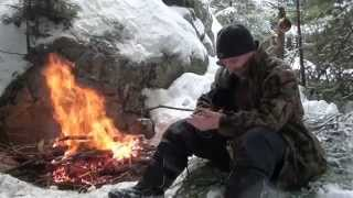 Download COFFEE, BANNOCK & STEAK ON A SNOWY, COLD WINTER DAY! Video
