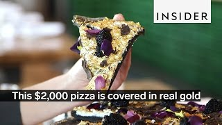 Download This $2,000 pizza is covered in real gold Video