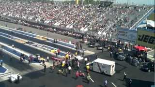 Download NHRA Accident! Crewmember ran over by Top Fuel Dragster Video